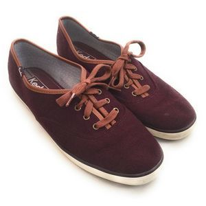 Keds Champion Burgundy Wool Blend Sneakers 8.5